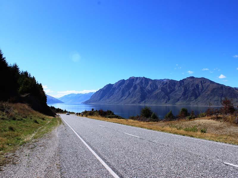 Straße zwischen Queenstown und Te Anau