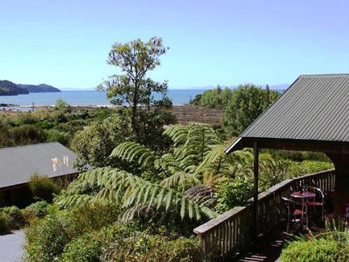 Abel Tasman Marahau Chalets mit Meerblick