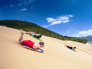 Sandboarding in der Bay of Islands