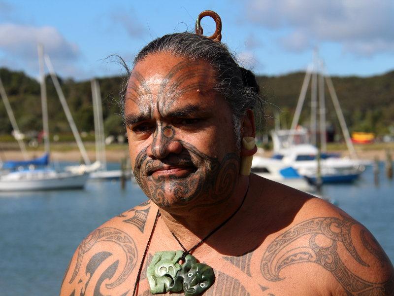 Maori vor Segelbooten