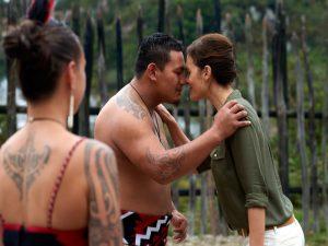 Traditionelle Maori-Begrüßung in Rotorua