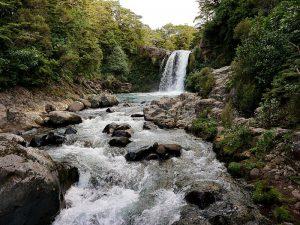 Der Wasserfall an dem Gollum Fische fängt und von Faramir gefangen genommen wird