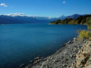 Aussicht über Lake Pukaki auf den Berg Mount Cook - Herr der Ringe Drehorte