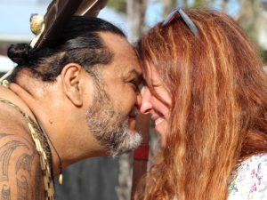 Hongi, Maori Begrüßung - Poor Knights Islands