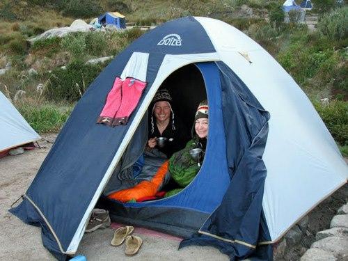 Zeltübernachtung Trekking
