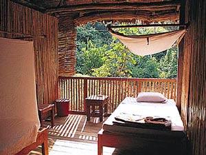 Dschungel-Lodge Zimmer mit Balkon Peru Reise