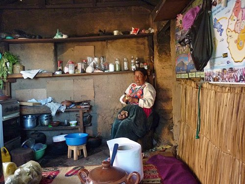 Küche Ihrer Gastfamilie auf Amantani