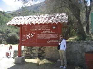 Trekking Huascaran Nationalpark Eingang