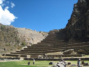 Ruinen der Festung in Ollantaytambo
