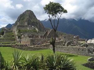 Ausblick Machu Picchu und Huayna Picchu