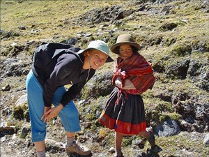 Mädchen auf dem Lares Trail
