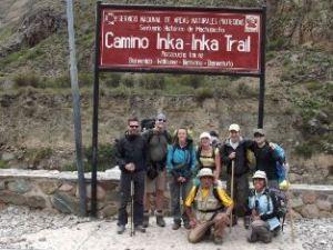Startpunkt des Inka-Trails