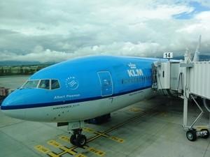 Flugzeug KLM Rückreise Peru Rundreise