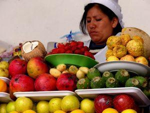 Marktfrau in Peru
