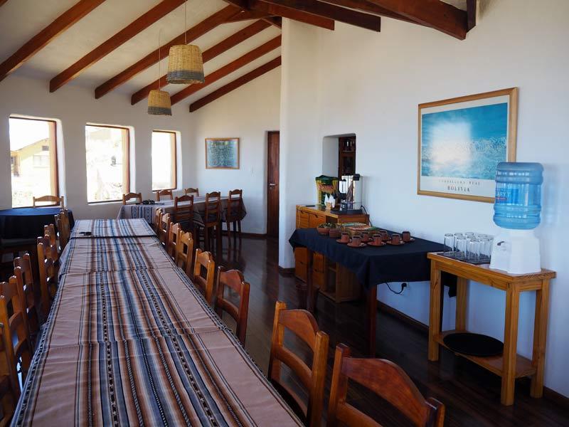 Restaurant der Ökolodge auf der Isla del Sol