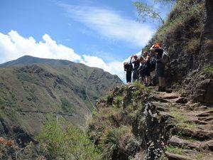 Aussicht auf dem Inka Jungle Trail bei Peru Aktivreise