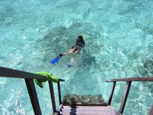 Snorkelen bij je watervilla