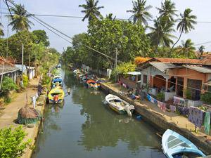 Negombo Sri Lanka - kanalen