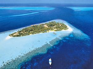 Wegdromen op koraaleiland