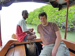Sri Lanka Negombo - varen door de lagune