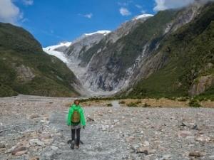 op de gletsjer nieuw zeeland