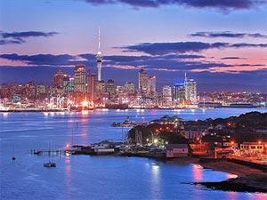Nieuw-Zeeland-reis Auckland blauwe schemering