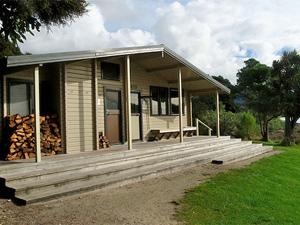 Awaroa hut Nieuw-Zeeland