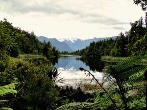 lake matheson nieuw zeeland