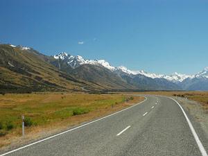 Nieuw Zeeland reis Mount Cook weg