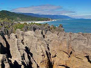 pancake rocks Nieuw Zeeland reis Fox glacier