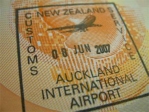 paspoort stempel nieuw zeeland