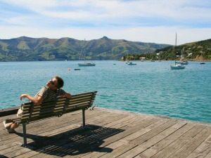 Akaroa tijdens Nieuw Zeeland reis