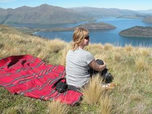 Nieuw Zeeland reis Akaroa picknick
