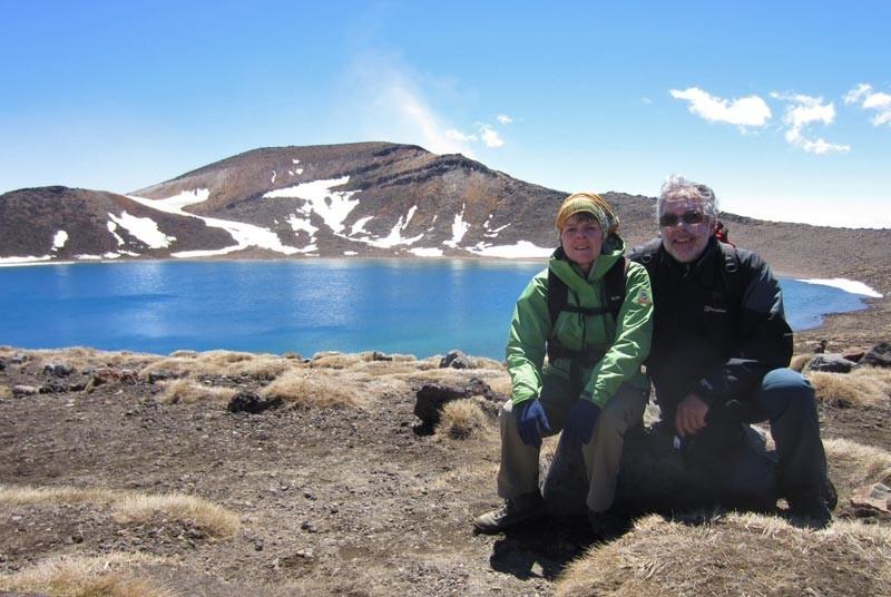 Nieuw Zeeland vakantie - reizigers bij meer