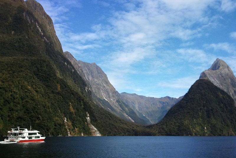 Reizen Nieuw Zeeland - Milford boot