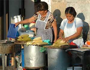 maisoverkoper op straat mexico