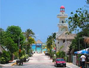 Mexico reizen - Playa del Carmen straat