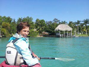mexico laguna bacalar kajak