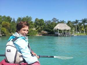 reis mexico bacalar vrouw