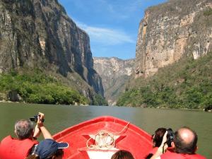 Bootexcursie Sumidero Canyon Mexico