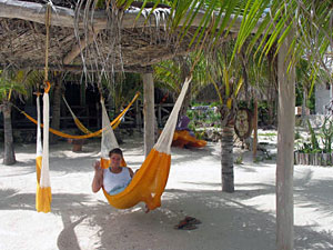 tulum strand hangmat mexico