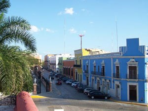 rondreizen mexico straatbeeld campeche