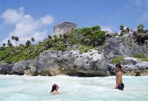 zee bij ruines mexico