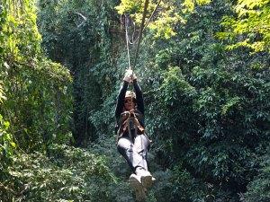 Slingeren in de jungle