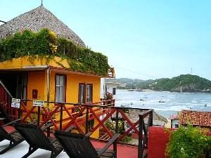 Puerto Angel hotel baaizicht