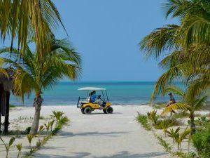 Hangmat op blote-voeten-eiland