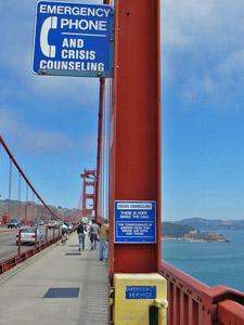 Spazieren Sie über die rote Brücke von San Francisco