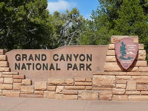 Parkeingang am Grand Canyon