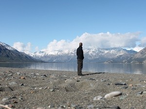 Endlose Weite am Kluane Lake Top of the World Highway