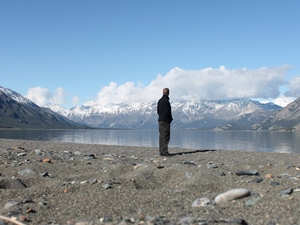 Blick auf die Bergkette im Kluane Nationalpark